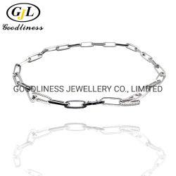 Neue Ankunfts-Frauen-Form-Schmucksache-flache Papierklammer-verlängerte geöffnete Link-Ketten-Halskette
