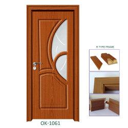 Acrílico MDF melamina porta do armário de cozinha com revestimento de PVC