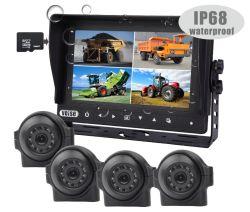 """7""""HD 1080P DVR Quad система камер для сельскохозяйственной техники и оборудования/ горнодобывающей промышленности в области разминирования транспортных средств, /специальных инженерных транспортных средств"""