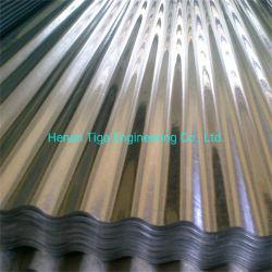 Usine de gros de matériaux de construction 0.12-0.6mm * 665/800/900mm galvanisé ondulé les tuiles de couverture