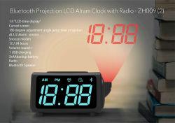 Moda mayorista eléctrico de sobremesa multifunción del logotipo de proyección digital de proyección digital LED Reloj alarma