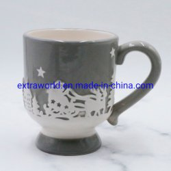 Новогодние подарки керамические доломита тиснение кружки кофе