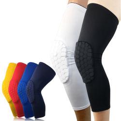 La protezione del ginocchio mette in mostra la compressione del ginocchio del neoprene di protezione del ginocchio di pallacanestro