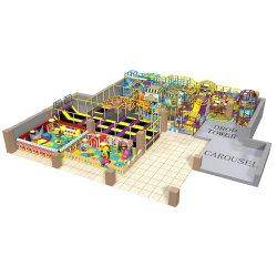 [ولّ سلّر] يصعد جدار أطفال داخليّة ملعب منزلق كبيرة لأنّ عمليّة بيع