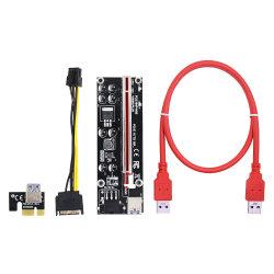 Версия 009s Plus переходная плата PCI-E Express 6Контакт 1X до 16X Расширитель платы USB 3.0 питания Pcie адаптер кабеля GPU Ver009s Plus(более стабильной)