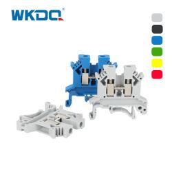 Montaje en carril DIN UK2.5 abrazadera de tornillo de bloque de terminales de conexión