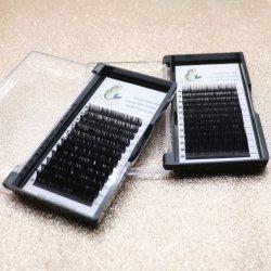 Embalaje personalizadas seda pestañas cabello sintético individuo Lash Extension
