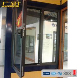 Ventana de la bisagra de aluminio/ Tilt-Turn hacia adentro de la ventana