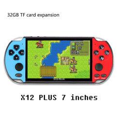 최신 지원 Tfcard X12 Plus 핸드헬드 게임 플레이어 레트로 게임 비디오 레트로 게임 콘솔 7인치 화면