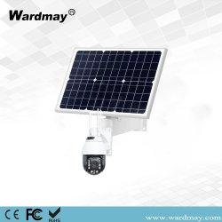 H. 265 18X Zoom Total 2.0MP Dome IP de rede 90W Painel Solar WiFi PTZ 4G Câmara
