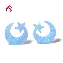 De mooie Blauwe Charmes van de Steen van de Gemmen van de Maan en van de Ster van de Brand Synthetische Opalen Losse voor het Maken van Juwelen