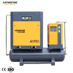 5KW-15kw AC Compressor de ar de parafuso rotativo de potência 8bar 81cfm com 300L-500L o tanque e o secador