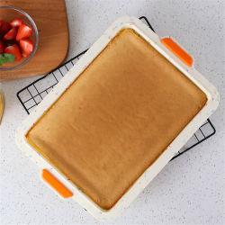 Non-Stick gummiartige Süßigkeit-Form-Silikon-Vierecks-Schokoladenkuchen-Kuchen-Backen-Wanne