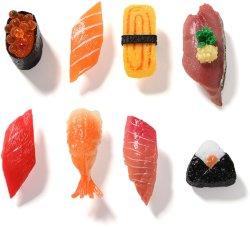 Roman promotionnel 3D réaliste en plastique Sushi Fridge Magnet