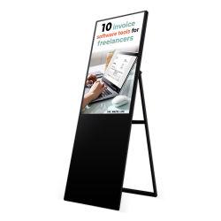 Estirado ultra delgado de señalización digital portátil LCD curvo pantallas publicitarias Kiosk