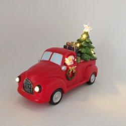 Polyresin Santa Claus éclairés de lignes de conduite Santa dans le tronc Décoration de Noël