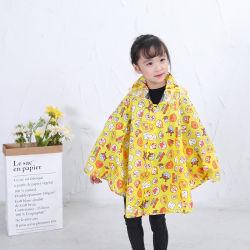 Impermeabile di usura della pioggia del tessuto di seta naturale del poliestere di colore del fornitore della Cina bello per i capretti