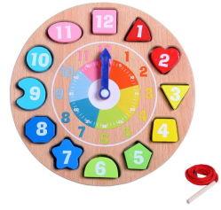 DIY aprendizagem precoce de madeira de triagem de Relógio Kids brinquedos de madeira