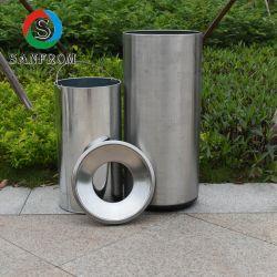 Contentor de resíduos de metal em aço inoxidável publicidade caixote do lixo