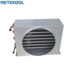 ファンが付いている冷凍の部品の熱交換器の銅のコンデンサーのコイル