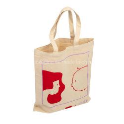 Logo imprimé en gros à bas prix promotionnel recycler tissus durable organiques en toile de coton blanc Calico Custom Shopping sac fourre-tout