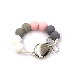 Collier de dentition bébé Fashion Silicone Anneau de dentition Collier Perles de silicone