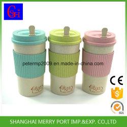 Fibre de blé écologique coupelle en plastique PP, tasses de café, des tasses à café, tasses de voyage