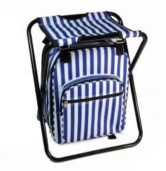 Refroidisseur de pliage et sac à dos de selles - Multifonction pliable et isolée du siège de camping Sac de glace avec bretelles rembourrées
