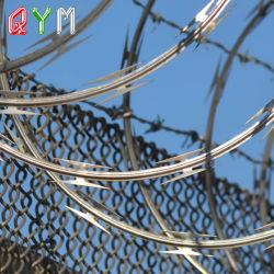 콘서티나 면도칼 철사에 의하여 직류 전기를 통하는 PVC 입히는 안전 콘서티나 면도칼 가시철사