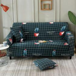 Sofá Tampa inclinada sofá-cama elástica das tampas de mobiliário coberturas para sala de estar Copridivano Slipcovers poltronas de tampas da mesa