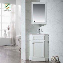 Dessins et modèles de luxe coin du mur du bassin unique salle de bains en bois massif de la vanité du Cabinet