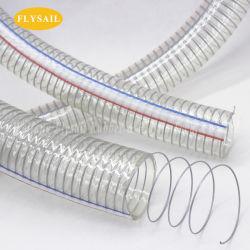 PVC鋼線の転送水オイルおよび粉のための補強された管のホース