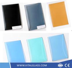 문과 Windows를 위한 명확한 백색 색을 칠하는 사려깊고 또는 낮은 철 결정 또는 황금 청동색 또는 파랗고 또는 녹색 또는 회색 또는 까만 또는 분홍색 건물 편평한 플로트 유리