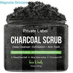 Активированный уголь скраб для тела глубокое очищающее средство перед лицом и Орган очищающую горячую скраб