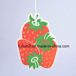 Odeur de fraise de fruits de papier personnalisé parfum de voiture