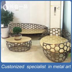 Новый стиль 3+2+1 из нержавеющей стали для приготовления чая и стол со стулом Special-Shaped