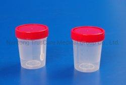 Conteneur en plastique jetables médical spécimen de l'urine contenant à échantillon de selles