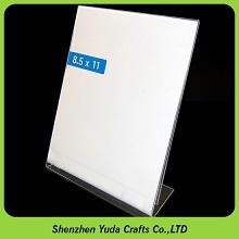 Плакат держатель карточки плексигласа подставка для дисплея L-образный ясно акриловый 8,5x11 Держатель знака