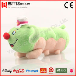 Het leuke Kussen van het Stuk speelgoed van de Rupsband van de Pluche van het Insect van het Ontwerp Zachte Gevulde Dierlijke