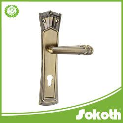 Level in lega di zinco Door Handle con Plate