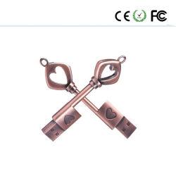 주문 로고 앙티크 키 사랑 USB 섬광 드라이브 Pendrive 지팡이 디스크