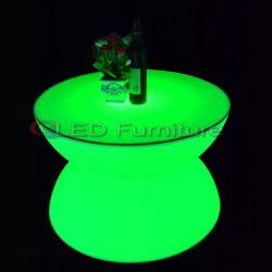 Cambiando de color con LED de batería Mesa Redonda mesa de café de calidad