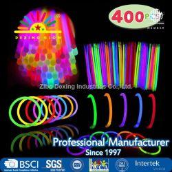 """Glow Sticks grueso 400 8 Glowsticks"""" (el total de 800 PCS 7 colores); Glow Stick pulseras, collares Glow Cotillón Pack con 400 Pulsera conectores."""