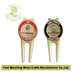 prix d'usine Die Casting fourches Balle de Golf de marqueurs de métal