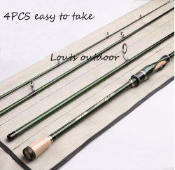 altos trastos de pesca de pesca Rod de Rod del señuelo del carbón 4PCS