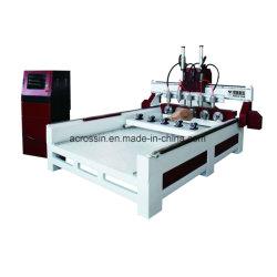 آلة حطب متعددة الرؤوس من النوع CNC تعمل بالخشب مع آلة دوارة لصنع السيقان، Mold