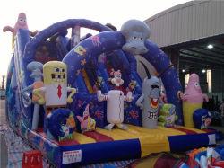 8X6X6m Sponge Bob Kids Toddler Inflatable Stair Slide Toys