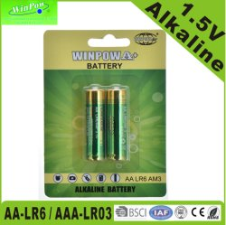 Fernsteuerungs1.5v AA Lr6 AAA Lr03 alkalische trockene Zellen-Batterie Fernsehapparat-