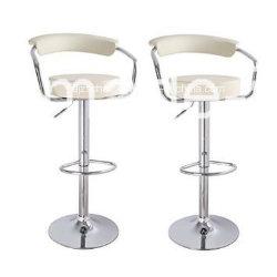 PU-Lederbarhock-Stuhl Verstellbarer Schalter schwenkbarer Pub Neu