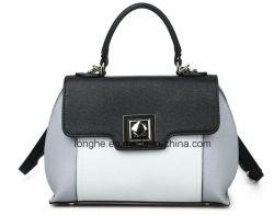 Manier Pu Leather Lady Handbags in tegenstelling Color (ZX20386)